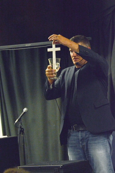 Magician with Cross